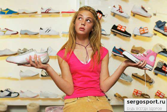 выбор спорт обуви для детей