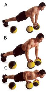 отжимания на баскетбольном мяче