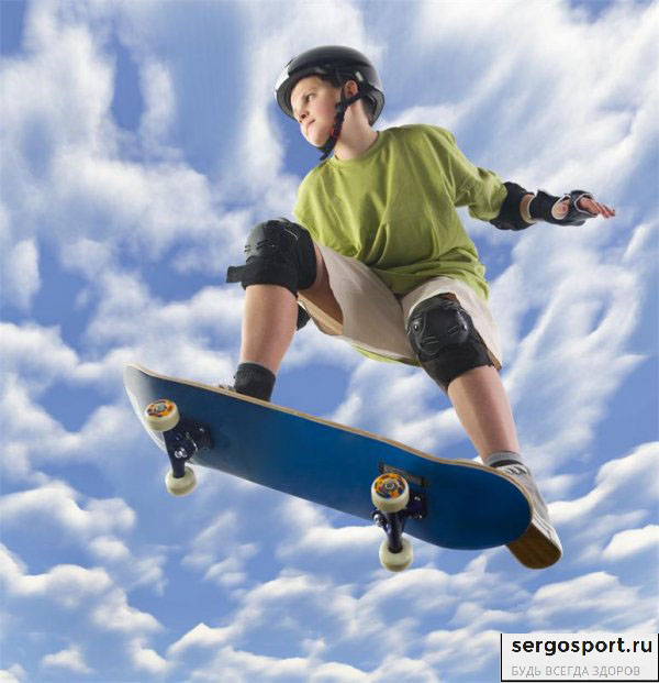 скейтборд и ребенок