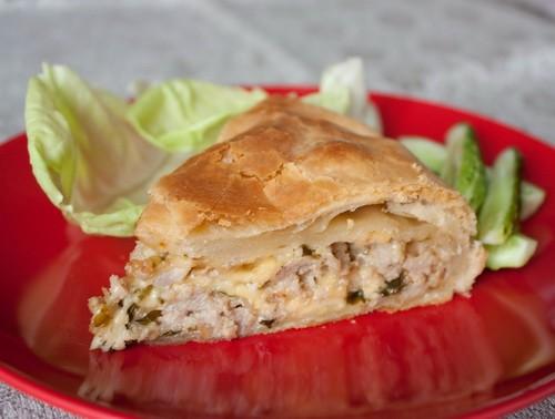 рецепт быстрого рыбного пирога