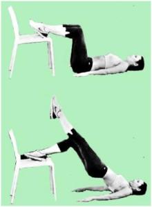 упражнения для ягодиц со стулом
