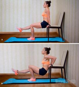 упражнения со стулом дома