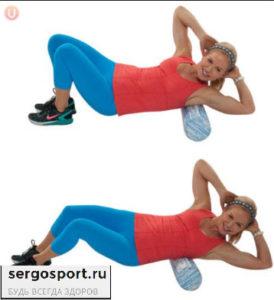 упражнение на широчайшие мышцы с фоам роллом