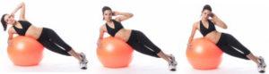 боковые мышцы пресса с фитболом