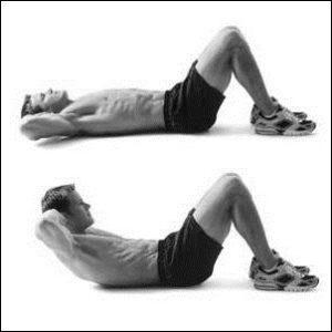 скручивание упражнение для мыщц пресса