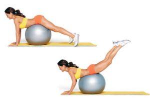 упражнения с фитболом для ног