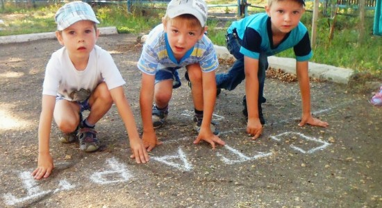 спортивный бег для детей