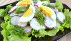 Белковый салат для сушки тела